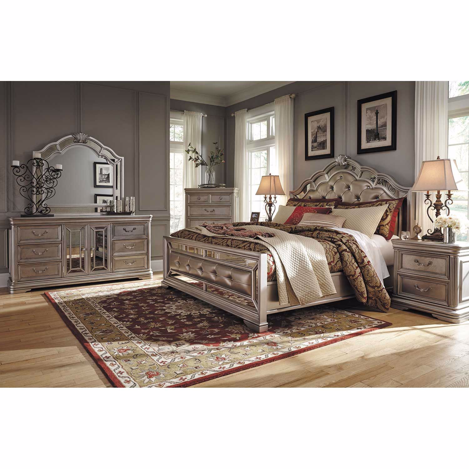 Picture of Birlanny Queen Panel Bed