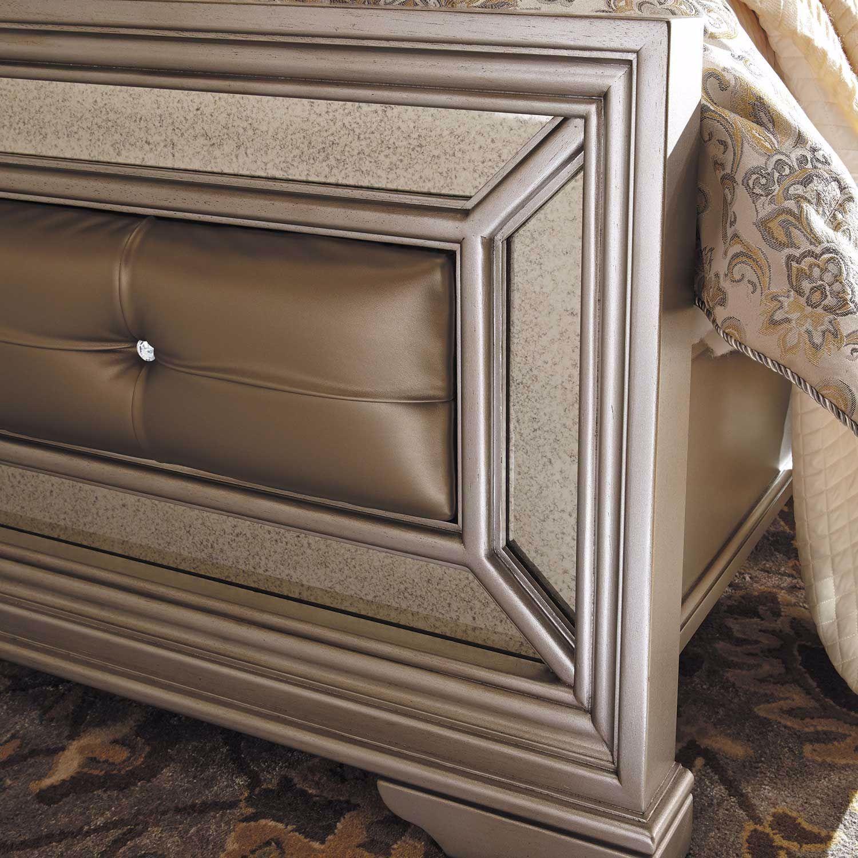 Birlanny Silver Upholstered Panel Bedroom Set B720 57 54: Birlanny Queen Panel Bed