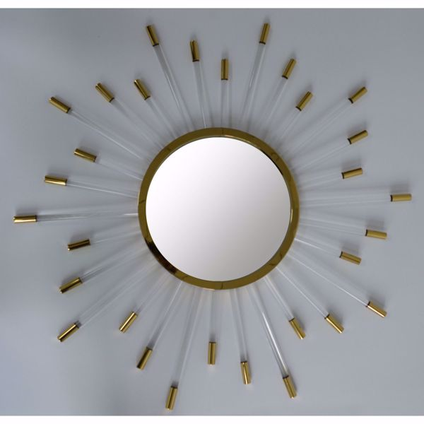Picture of Acrylic Gold Plated Wall Mirror