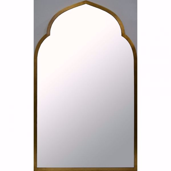 Picture of Gold Round Arch Wall Mirror