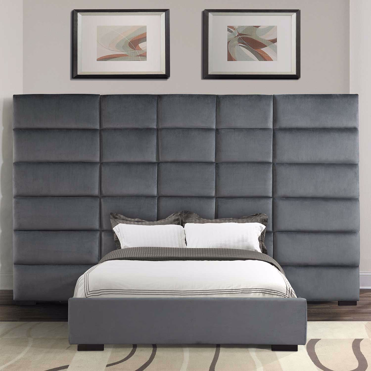 Picture of Dover Upholstered Tufted Queen Bed