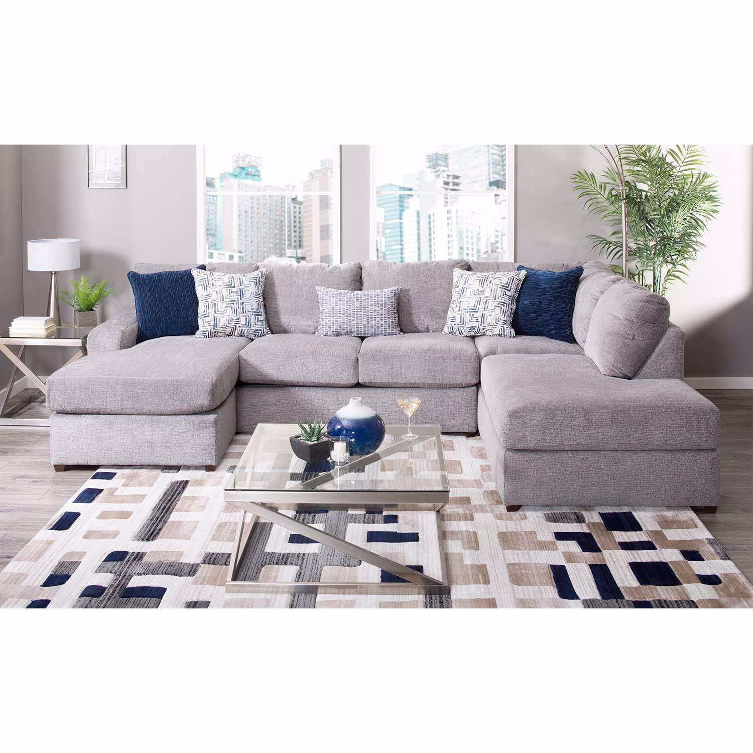 Oasis Flagstone 2 Piece RAF Sofa Chaise Sectional