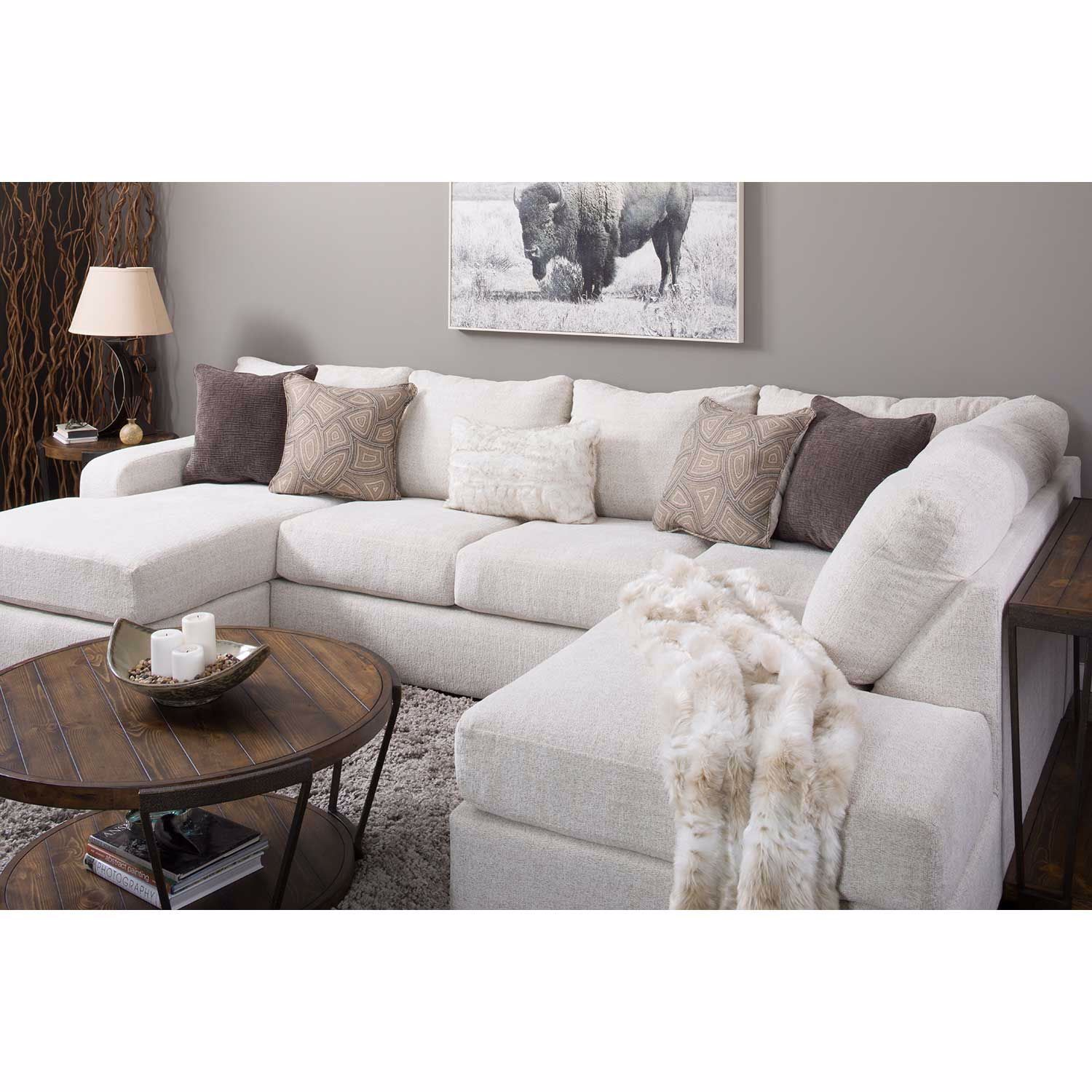 Picture of Amplify Beige 2 Piece RAF Sofa Chaise Sectional