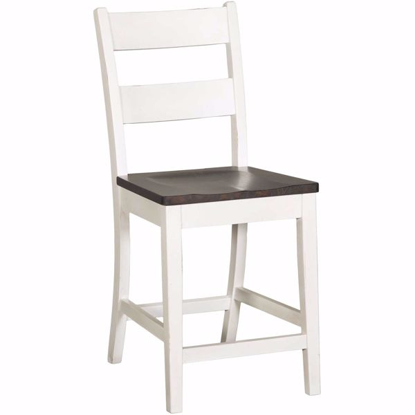 """Picture of Bourbon Two-Tone 24"""" Barstool"""