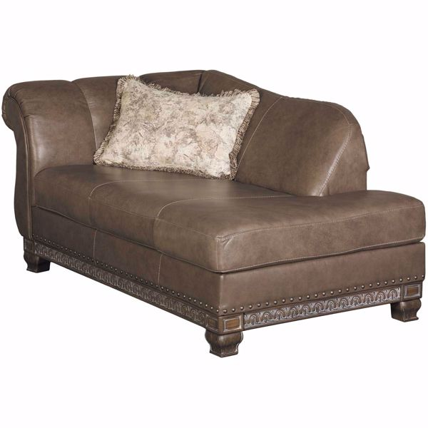 Picture of Malacara Quarry Gray Leather LAF Corner Chaise