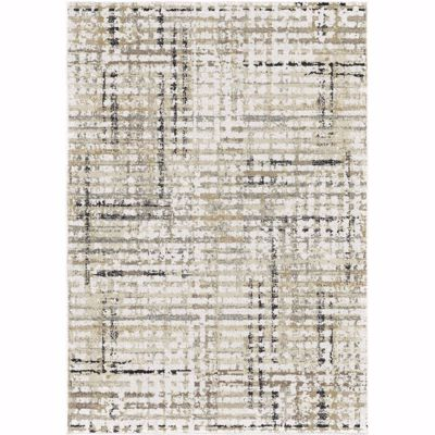 Picture of Grid Multi Neutrals 5x8 Rug