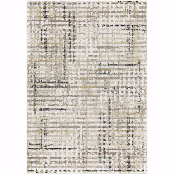 Picture of Grid Multi Neutrals 8x10 Rug