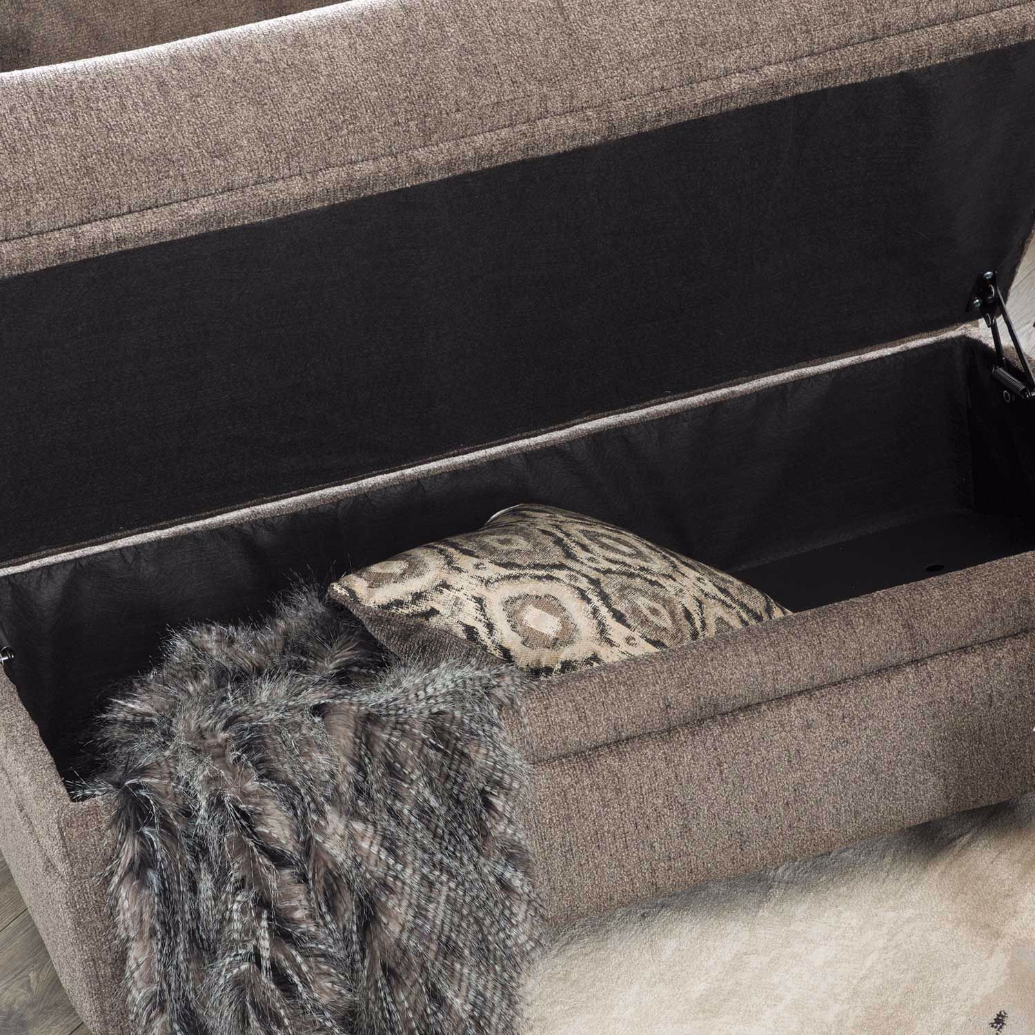 Picture of Cornell Pewter Storage Ottoman