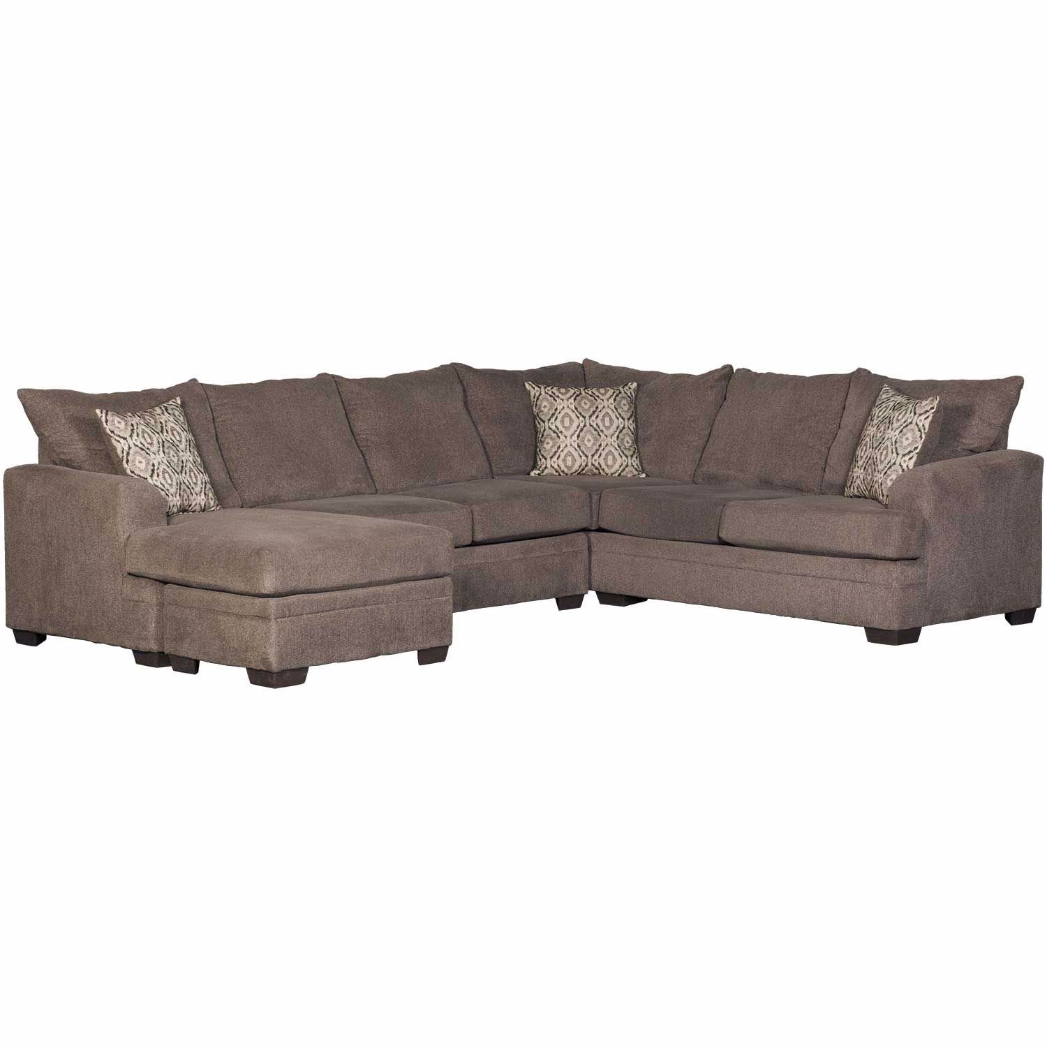Magnificent 2Pc Laf Pewter Sectional W Chaise Pdpeps Interior Chair Design Pdpepsorg