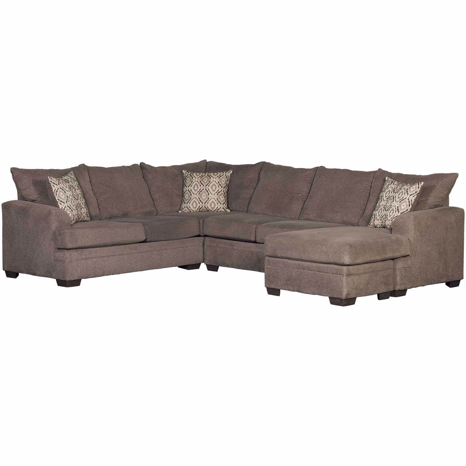 Pleasing 2Pc Pewter Raf Sectional W Chaise Pabps2019 Chair Design Images Pabps2019Com