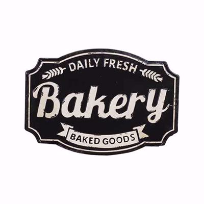 Picture of Bakery Metal Sign, Black