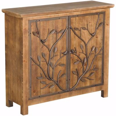 Picture of Rustic Wood and Metal Cabinet