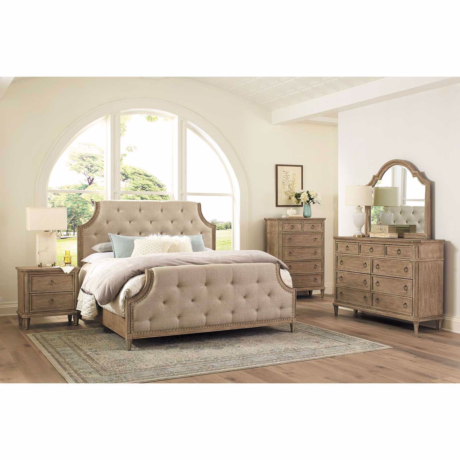 Picture of Tuscany Queen Upholstered Panel Bed