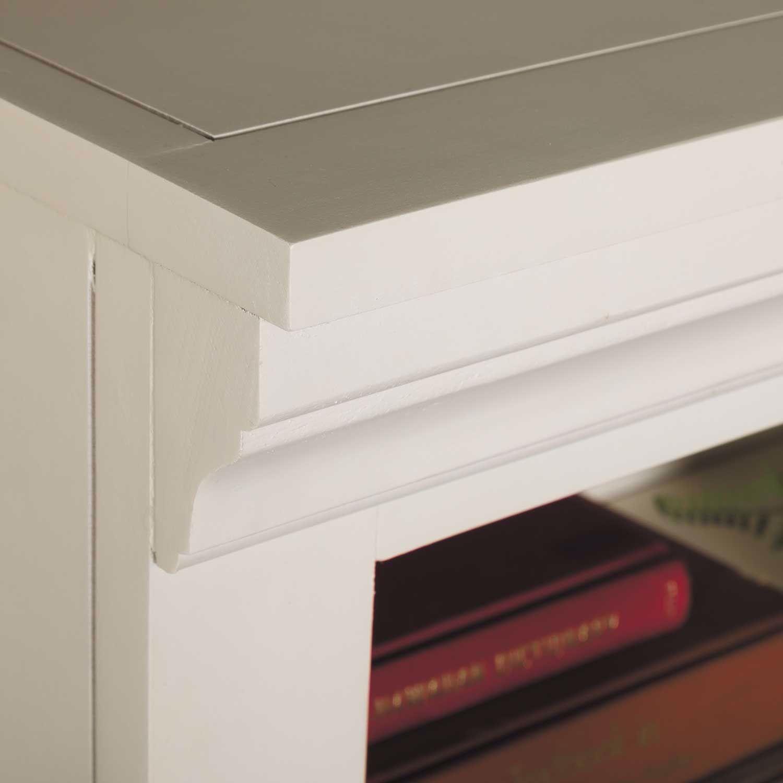 Picture of White Bookcase, 3 Shelf