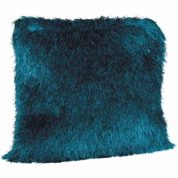 Picture of Teal Sparkle Shag 20x20 Pillow *P
