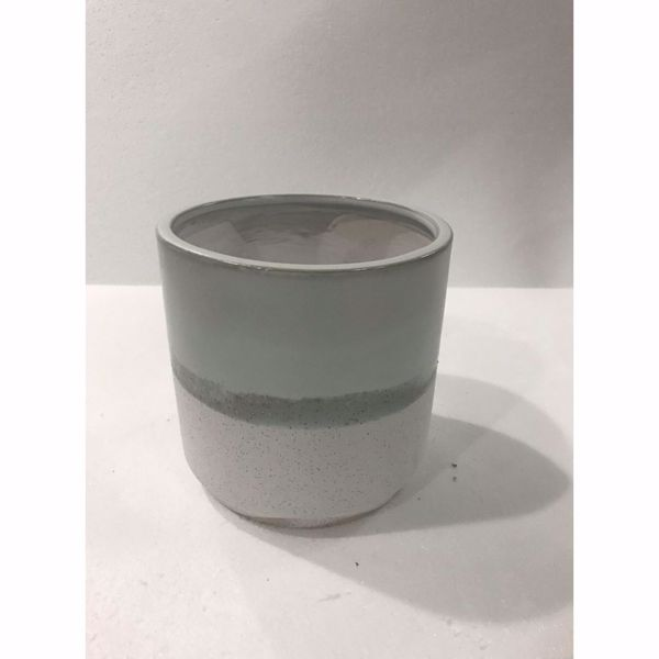 Picture of Grey White Ceramic Planter