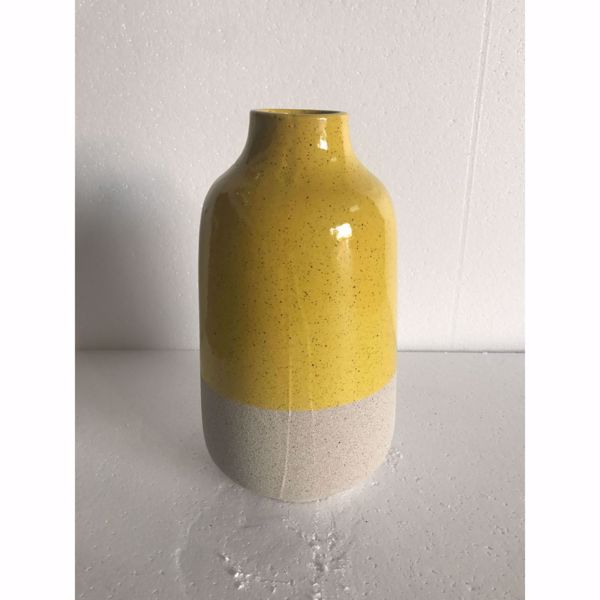 Picture of Yellow Top Ceramic Vase