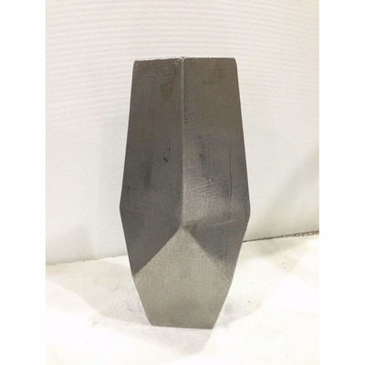 """Picture of Angled Silver Vase 16"""""""