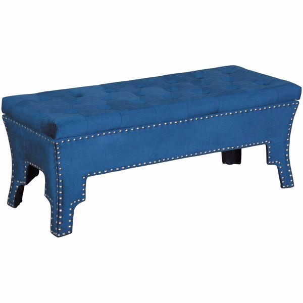 Picture of Mia Navy Storage Ottoman