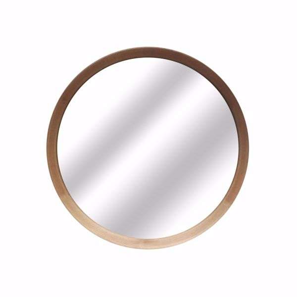 Picture of Round Wood Wall Mirror