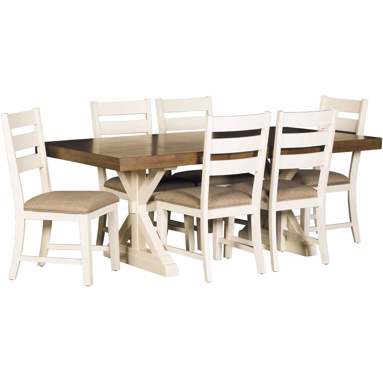 Admirable Park Creek 7 Piece Rectangular Table Set Ibusinesslaw Wood Chair Design Ideas Ibusinesslaworg
