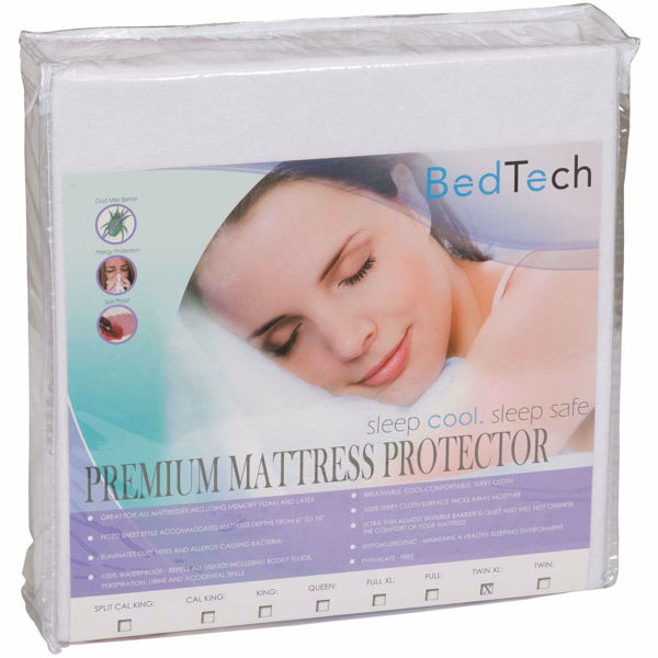 Picture of Twin Extra Long Premium Terrycloth mattress protector