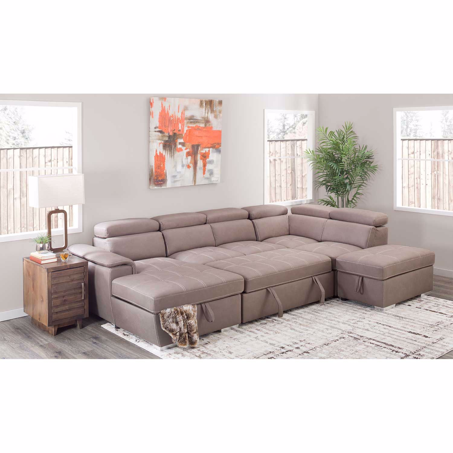 Picture of Levite 4 Piece Sectional with Storage