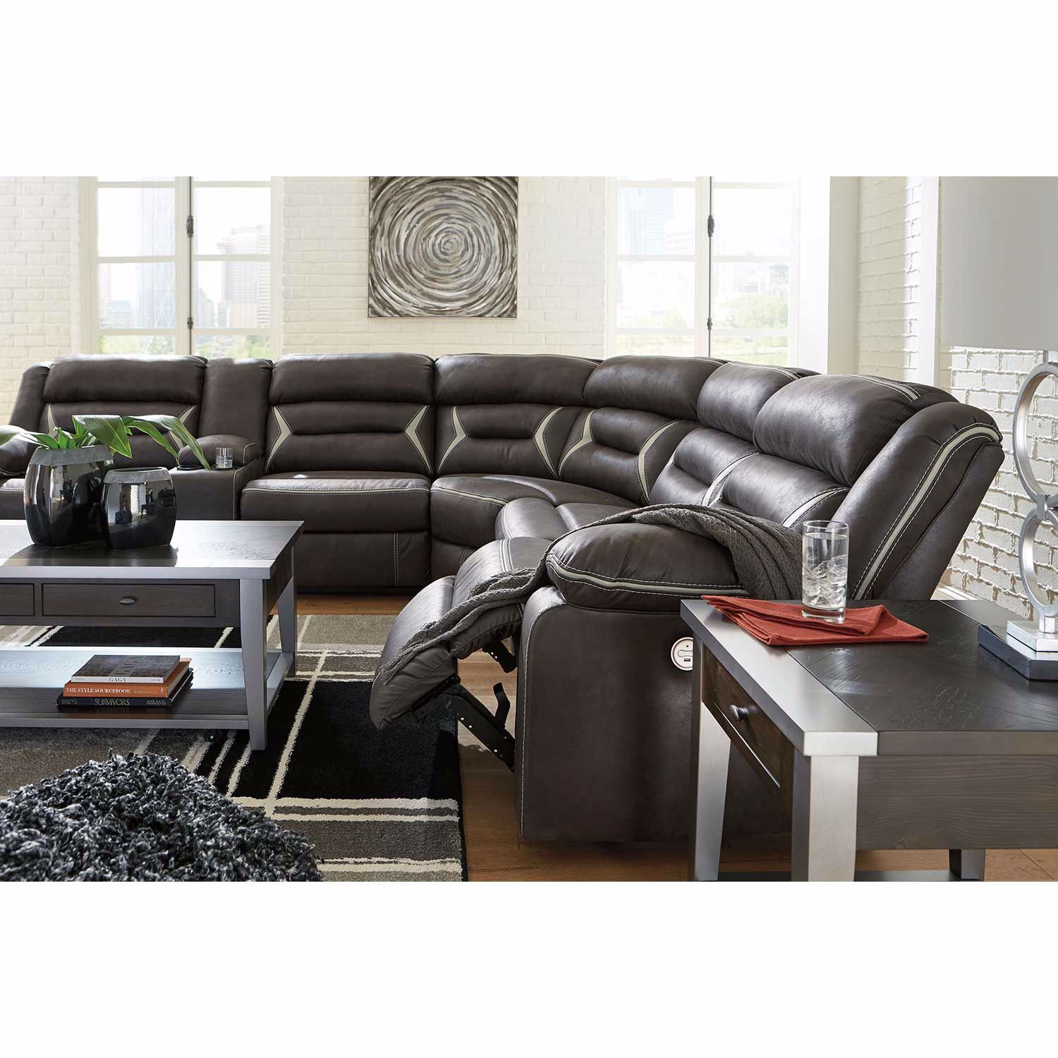 Picture of Kincord 4PC Power Recline Sectional with RAF Conso