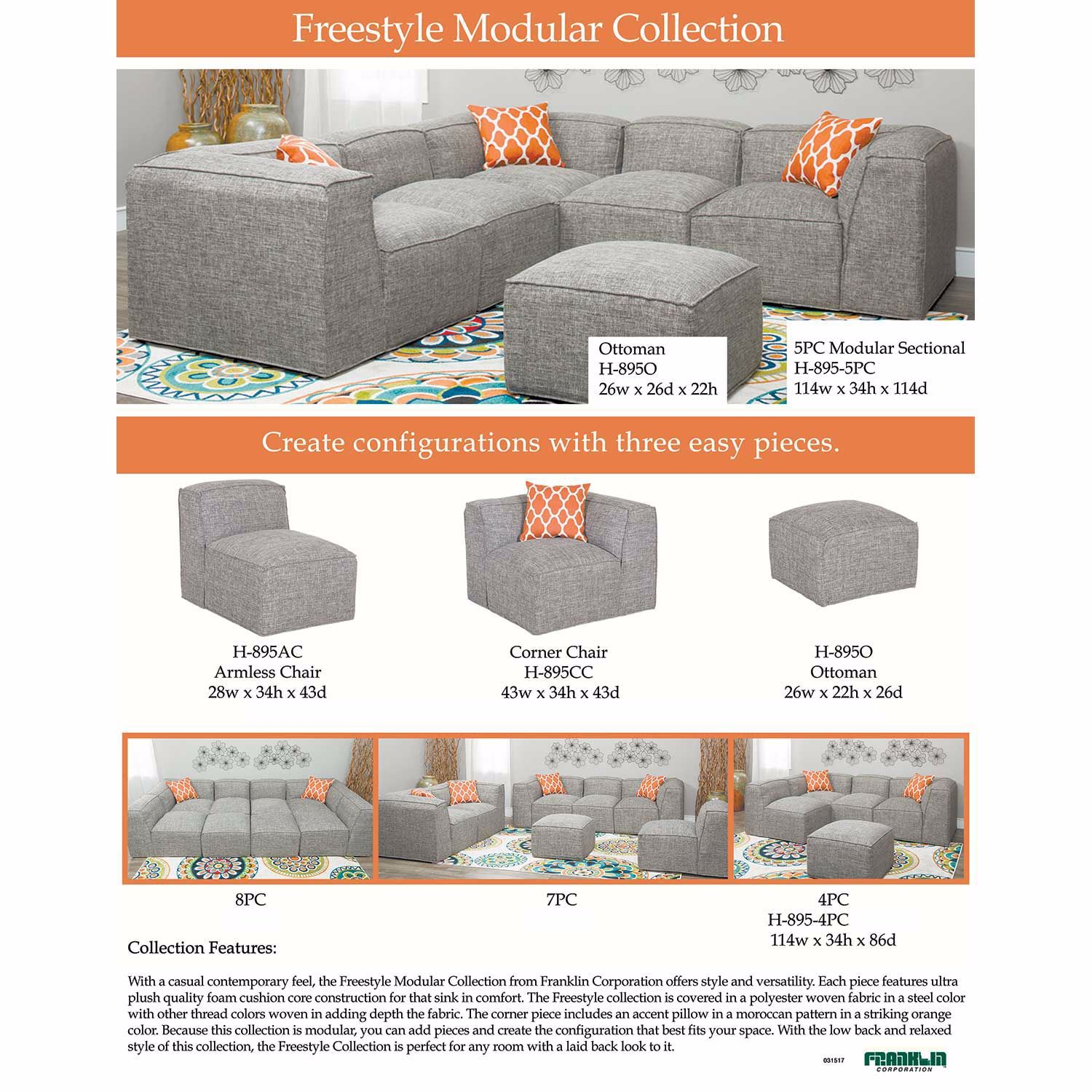 Picture of Freestyle 4 Piece Modular Sectional