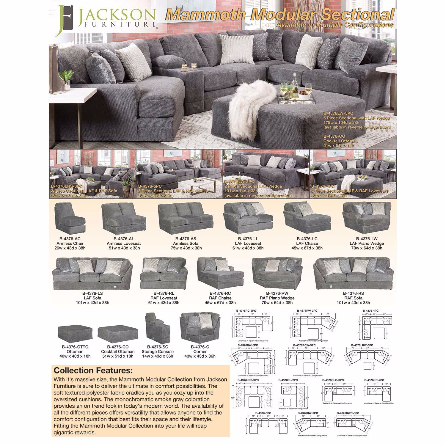 Picture of Mammoth 4 Piece Sectional with LAF and RAF Loveseats