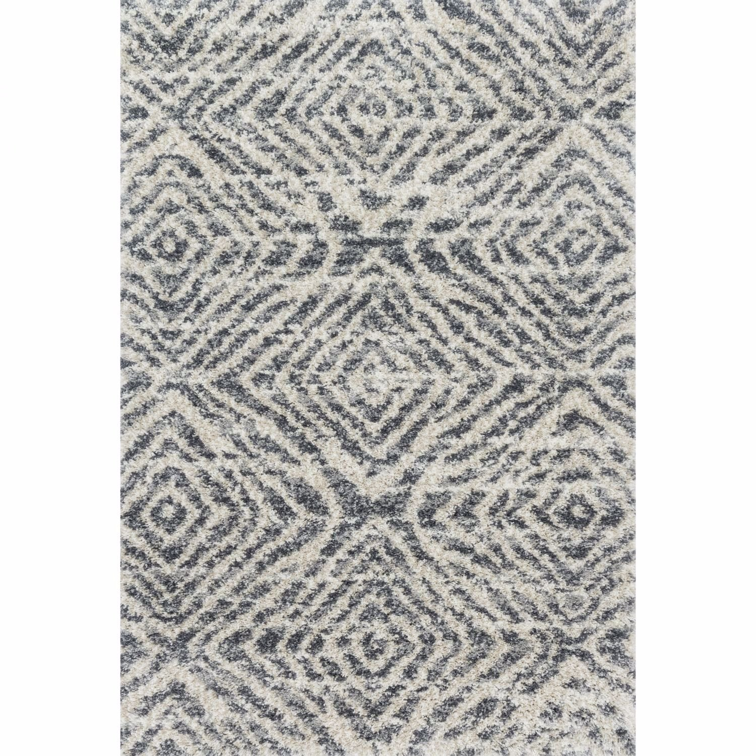 Picture of Quincy Graphite Sand Diamond 8x10 Rug