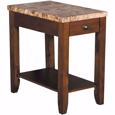 Picture of Faux Marble Chairside Table