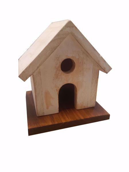 Picture of White Rub Bird House