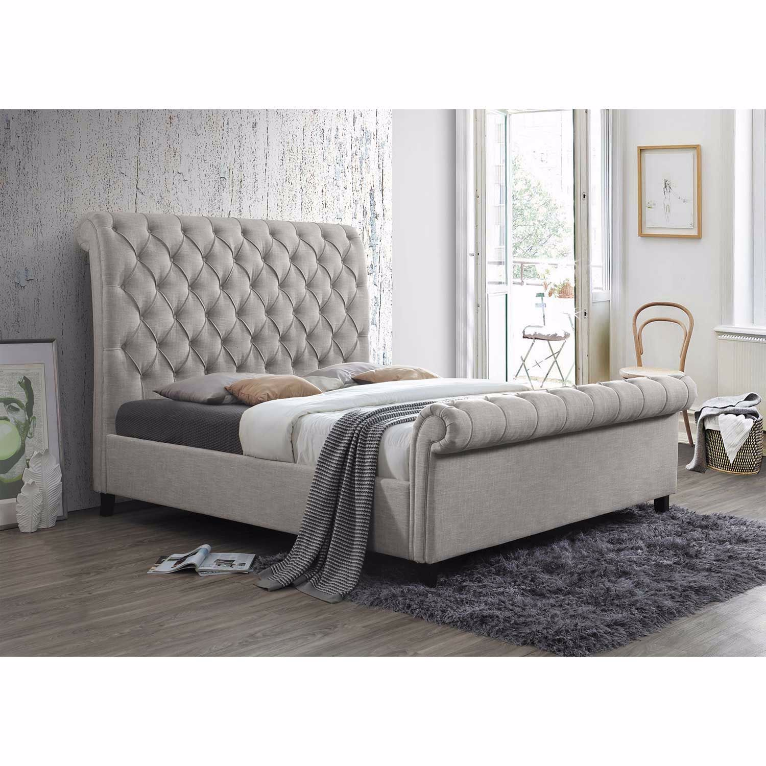 Kate Upholstered King Bed 5103 Khb Fb Rl Crown Mark Afw Com