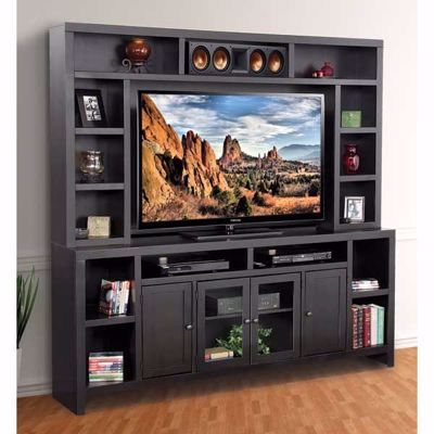 "Picture of 84"" Essentials Black TV Console/Hutch"