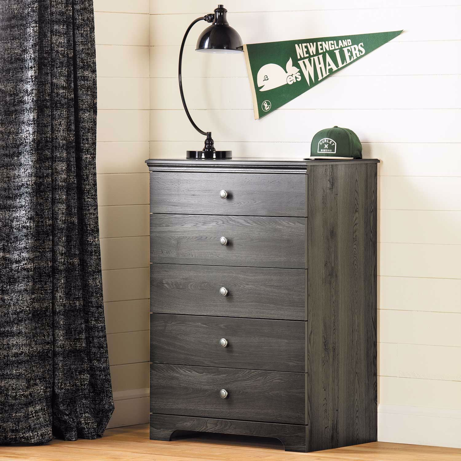 Picture of Zach Gray Five Drawer Chest