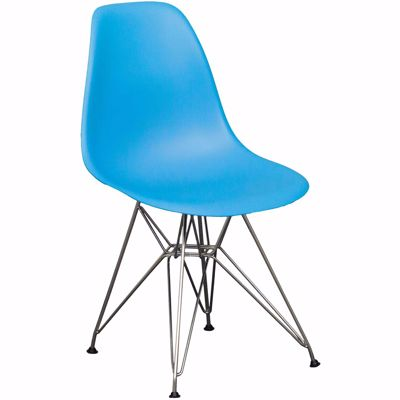 Picture of Eiffel Chrome Blue Chair