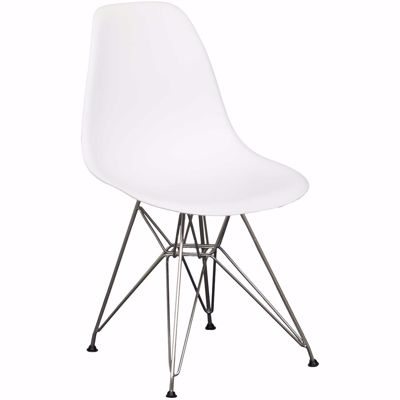 Picture of Eiffel Chrome White Chair
