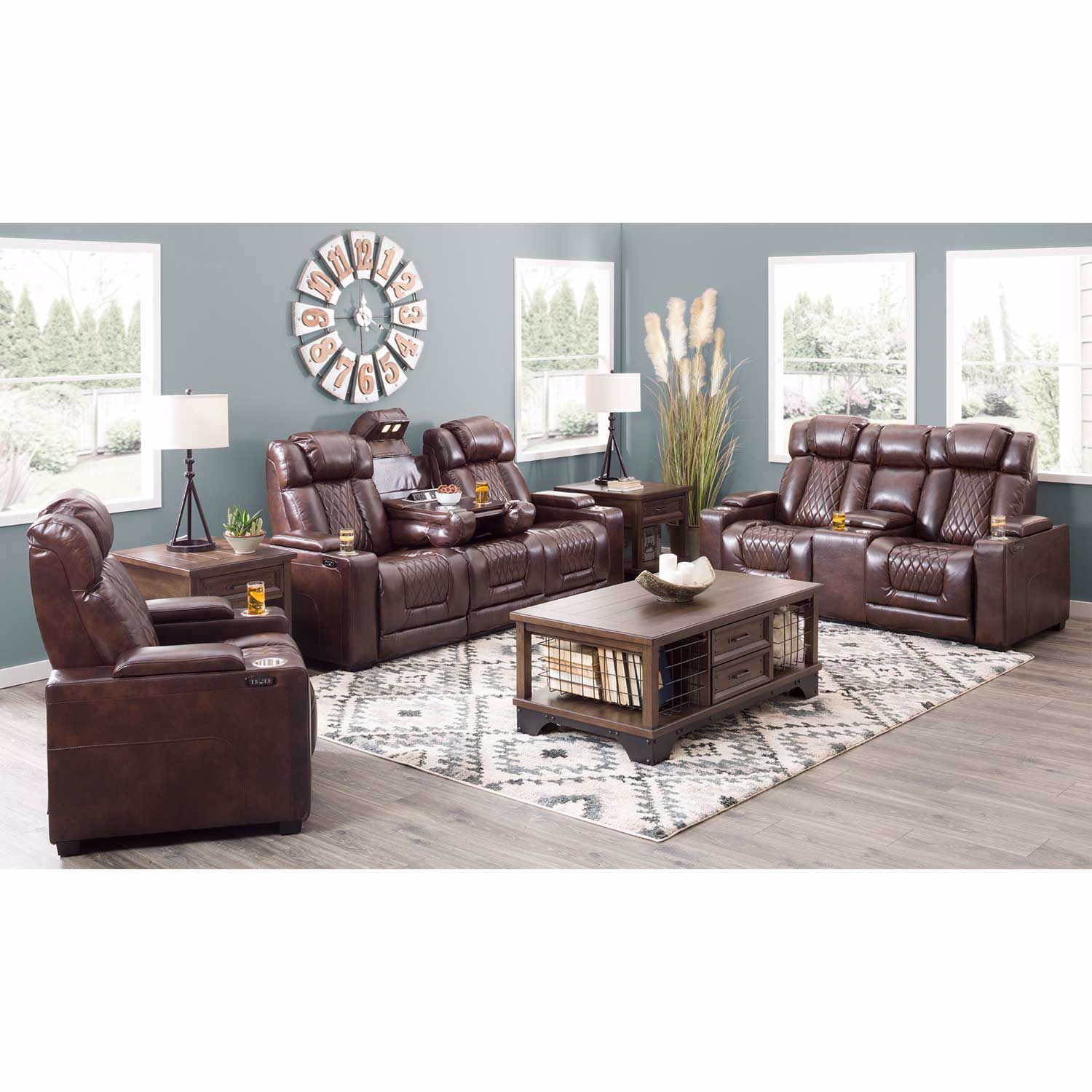 Picture of Maxwell Power Reclining Console Loveseat