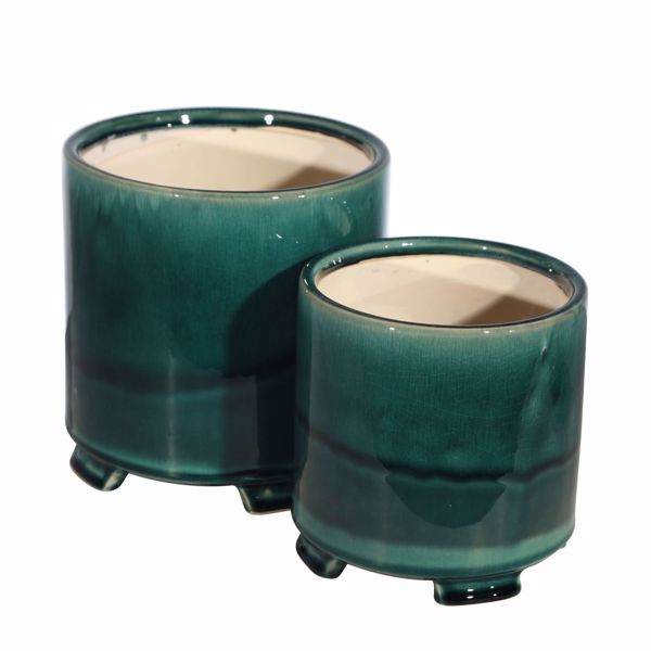 Picture of Set Two Teal Planters