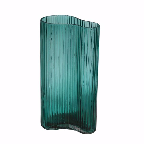 Picture of Curvy Blue Glass Vase