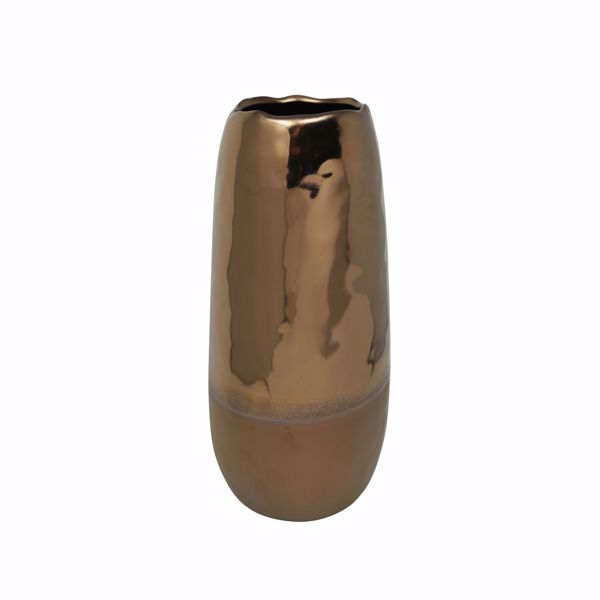 Picture of 2 Tone Brown Ceramic Vase