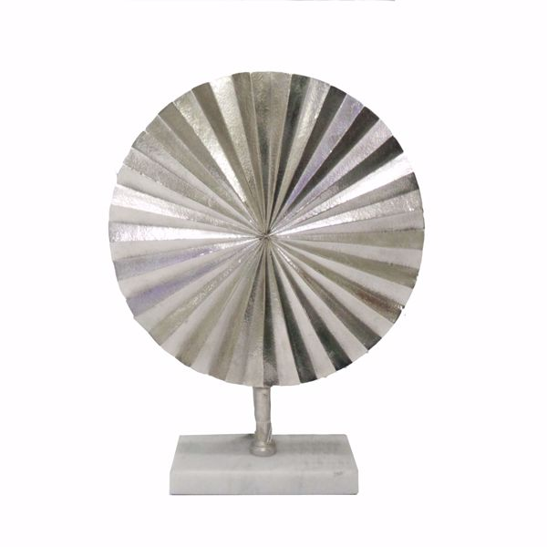 Picture of Silver Fan Disk on Marble