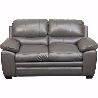 Picture of Logan Charcoal Leather Loveseat