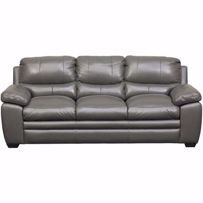 Picture of Logan Charcoal Leather Sofa