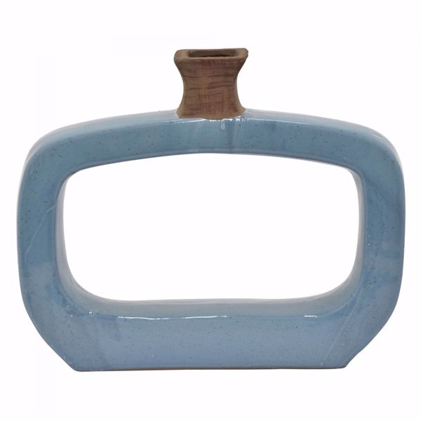 Picture of Blue Open Rectangle Vase