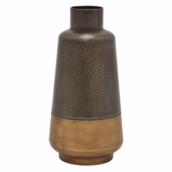 Picture of Earth Tone Metal Vase