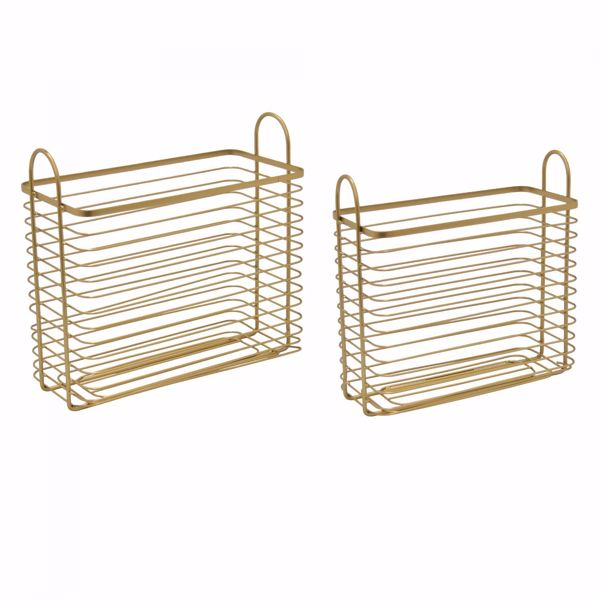 Picture of Set 2 Gold Metal Baskets