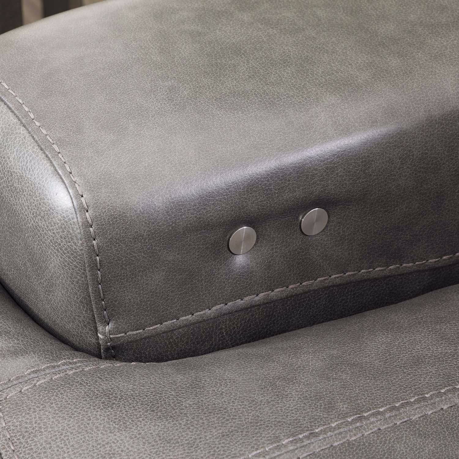 Picture of Jax Gray Leather Power Recline Console Loveseat