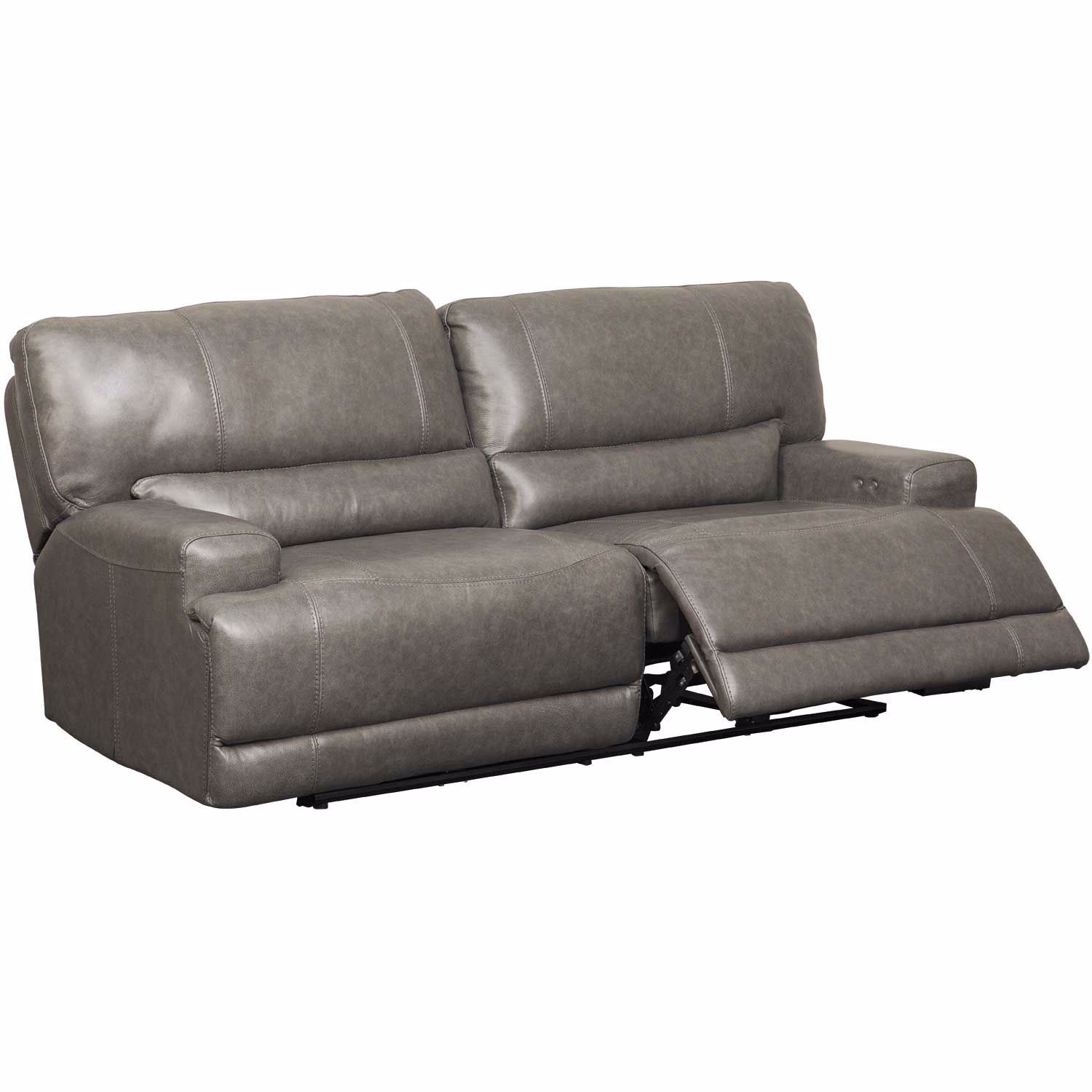 Picture of Jax Gray Leather Power Recline Sofa